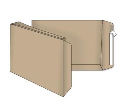 Пакет В4 крафт ф.250*353*40мм (пакет с расширением на 40мм)