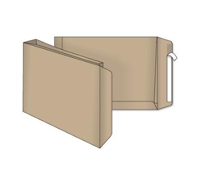 Пакет С4 крафт ф.229*324*40 мм (пакет с расширением на 20мм)
